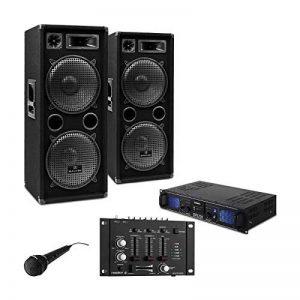 DJ PA SET DJ-27 Ampli PA + 2 enceintes USB SD MP3 de la marque E-Star image 0 produit