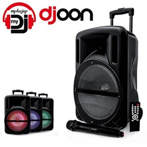 """Enceinte 12"""" 500W DJOON MyDJ à LED RVB Mobile sur batterie Bluetooth USB SD Micro + Tél de la marque My deejay image 0 produit"""