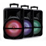 """Enceinte 12"""" 500W DJOON MyDJ à LED RVB Mobile sur batterie Bluetooth USB SD Micro + Tél de la marque My deejay image 1 produit"""