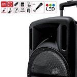 """Enceinte 12"""" 500W DJOON MyDJ à LED RVB Mobile sur batterie Bluetooth USB SD Micro + Tél de la marque My deejay image 3 produit"""
