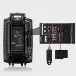 """Enceinte sono portable 12""""/30 cm 700W à LED RVB 12 VHF - Haut parleur avec micro sans fil et micro fil et lecteur MP3 (USB SD, chassis ABS, batterie longue durée) de la marque Novonova image 3 produit"""