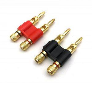Fiches banane de haut-parleur Vimmor - Double fiche banane audio - Fiche de haut-parleur pour câble de haut-parleur, résistante à la corrosion. 1 Pair de la marque Vimmor image 0 produit