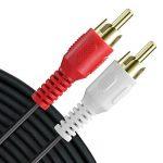 Fosmon RCA câble (6 FT) 2RCA Mâle à 2RCA MâleStéréo Audio Câble, Composite Audio [Droite/À Gauche] 2 RCA Plug M/M connecteur Rouge et Blanc pour A/V Reciever, amplificateur, projecteur, Home Cinéma de la marque Fosmon Technology image 4 produit