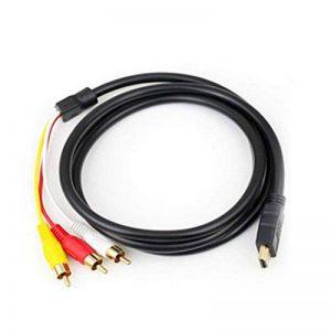 HDMI AV HDMI à 3RCA câble Audio vidéo Rouge Jaune et Blanc HDMI Câble AV 3RCA Vie Morte de la marque Gwendoll image 0 produit