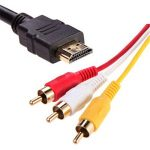 HDMI AV HDMI à 3RCA câble Audio vidéo Rouge Jaune et Blanc HDMI Câble AV 3RCA Vie Morte de la marque Gwendoll image 3 produit