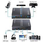 HDMI Convertisseur 3x1 HDMI Commutateur avec Audio Extracteur Analogique Optique Toslink SPDIF Sortie Support 4K 3D avec IR Télécommande HDMI Câble USB Câble 3.5mm Mâle à 2 RCA Femelle Câble de la marque Proster image 1 produit