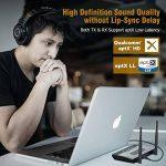 Hosome Émetteur Récepteur Bluetooth 5.0, 3 en 1 263pieds Adaptateurs Audio 3,5 mm sans Fil Longue Portée Deet Câble Optique RAC (Faible Latence Aptx HD) pour Téléviseur, Sonorisation Domestique de la marque Hosome image 1 produit