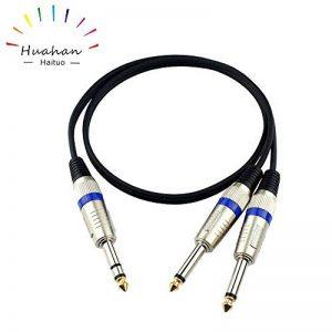 Huahan Haituo 6,35 mm (1/4 po) TRS à Double 6,35 mm (1/4 po) TS câble de dérivation stéréo 6,35 mm TRS à Double 6,35 mm TS (3.28 ft) de la marque Huahan Haituo image 0 produit