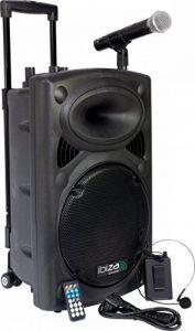 Ibiza PORT12VHF-BT Sonorisation portable 12'' USB/SD/AUX/MP3/Bluetooth Noir de la marque Ibiza image 0 produit