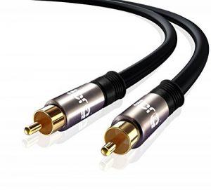 IBRA ® 1m numérique coaxiale Câble / Subwoofer Câble / câble Câble audio / vidéo - Gun Metal Range - 1 Meter de la marque IBRA® image 0 produit