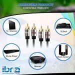 IBRA® 20M 2RCA Mâle à 2RCA Mâle Haute Qualité Home Theater Audio Cable -2RCA À 2RCA - Gun Range Métal de la marque IBRA® image 3 produit