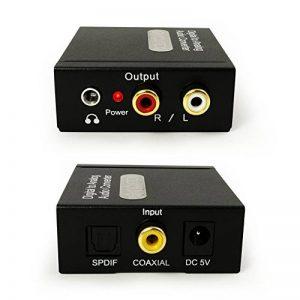 Incutex Converteur Audio digitale (Toslink et Coaxial) à analogue (Cinch) transducteur audio décodeur avec un adaptateur prise et câble jack de la marque Incutex image 0 produit