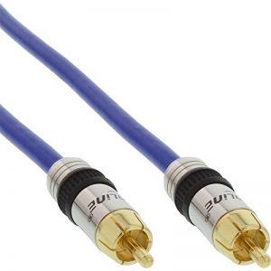 INLINE - PREMIUM - Câble audio vidéo - Vidéo composite/Audio numérique coaxial - Double blindage - Connecteurs plaqués or - 75 Ohm - 2 m (Import Allemagne) de la marque InLine image 0 produit