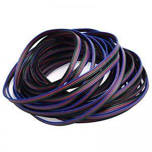 JACKYLED RGB Câble 4 broches Rallonge Câble pour 5050 3528 LED Bande lumineuse 10m 32.8ft LED Splitter connecteurs kit 4 Couleur de la marque JACKYLED image 0 produit