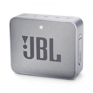 JBL GO 2 - Mini Enceinte Bluetooth portable - Étanche pour piscine & plage IPX7 - Autonomie 5hrs - Qualité audio JBL - Gris de la marque JBL image 0 produit