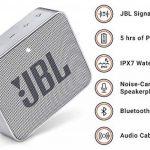 JBL GO 2 - Mini Enceinte Bluetooth portable - Étanche pour piscine & plage IPX7 - Autonomie 5hrs - Qualité audio JBL - Gris de la marque JBL image 2 produit