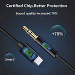 Joyguard USB C Jack Adaptateur, Adaptateur Jack USB Type C 3,5mm Aux Câble de Prise Casque Stéréo Voiture Adaptateur USB C à 3,5 mm [Noir] de la marque Joyguard image 4 produit