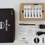 JUST MIXER 5 avec Bluetooth – Table de mixage du bureau stéréo compacte avec 5 entrées (3,5 mm/Bluetooth sur CANAL1), 3 sorties (3,5 mm/RCA/USB), et alimentation USB de la marque Maker hart image 2 produit