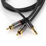 KabelDirekt 10m Câble Y 3.5mm Stéréo Jack vers 2x RCA (3.5mm Jack mâle > 2 RCA mâle, adaptateur jack rca) PRO Series de la marque KabelDirekt image 2 produit