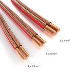KabelDirekt 15m Câble d'enceinte (2x2,5mm², OFC, cuivre transparent, marquages de polarité - anneau) PRO Series de la marque KabelDirekt image 2 produit