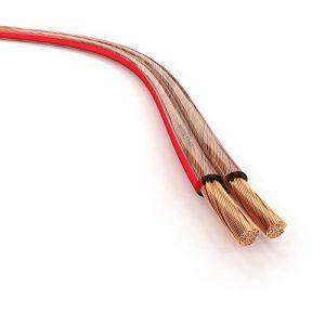 KabelDirekt 50m Câble d'enceinte (2x2,5mm², OFC, cuivre transparent, marquages de polarité - anneau) PRO Series de la marque KabelDirekt image 0 produit