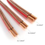 KabelDirekt 50m Câble d'enceinte (2x2,5mm², OFC, cuivre transparent, marquages de polarité - anneau) PRO Series de la marque KabelDirekt image 2 produit