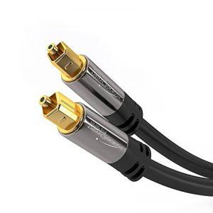 KabelDirekt 5m câble audio numérique optique / câble TOSLINK (TOSLINK vers TOSLINK, câble fibre optique pour home cinéma, PS4, XBOX) PRO Series de la marque KabelDirekt image 0 produit