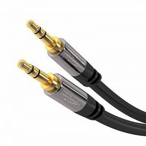 KabelDirekt 5m Câble Jack Audio Stéréo (3.5mm Jack vers 3.5mm Jack, câble aux) PRO Series de la marque KabelDirekt image 0 produit
