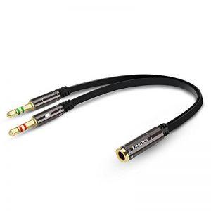 KINGTOP Câble Audio 3.5mm Câble Adaptateur Jack Stéréo Audio Mâle vers Femelle (Noir) de la marque KINGTOP image 0 produit