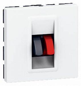 Legrand LEG99649 Prise haut parleur pour Câble jusqu'à 4 mm² 2 modules à composer Mosaic de la marque Legrand image 0 produit