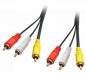 Lindy Câble Audio vidéo Premium, 3 x RCA (Cinch) mâle/mâle, 10m de la marque Lindy image 0 produit