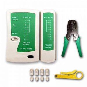 Linxor France ® Pince et testeur de câble réseau RJ45, RJ11 et RJ12 - Norme CE de la marque Linxor image 0 produit