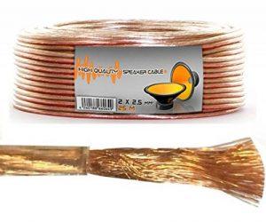 Lokmann Câble de haut-parleur 2 x 2,5 mm² à gaine transparente, 25 m de la marque LOKMANN image 0 produit
