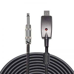 """LoongGate USB vers 6.35mm 1/4 """"Mono Mâle Guitare Électrique Câble - Studio Audio Câble Connecteur Adaptateur pour Instruments d'Enregistrement (3 Mètres / 9.8ft) de la marque LoongGate image 0 produit"""