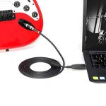 """LoongGate USB vers 6.35mm 1/4 """"Mono Mâle Guitare Électrique Câble - Studio Audio Câble Connecteur Adaptateur pour Instruments d'Enregistrement (3 Mètres / 9.8ft) de la marque LoongGate image 2 produit"""