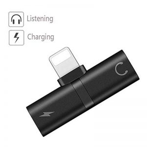 Luvfun Adaptateur pour Phone, Mini-Jack 2 en 1 Adaptateur Casque Chargeur Adaptateur Audio - Noir de la marque Luvfun image 0 produit