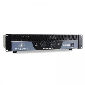 """Malone DX1200 Ampli sono Amplificateur PA (2 x 600W à 4 Ohms, 2 x 400W à 8 ohms, 1200W de puissance """"pontée"""" sous 8 ohms, bridgeable pour fonctionnement 1/2 canaux) de la marque Malone image 0 produit"""