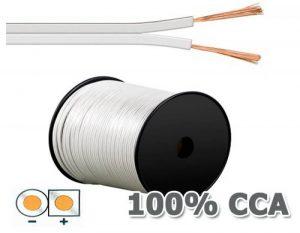 Manax Câble de haut-parleur Blanc 2 x 0,75 mm² x 100 m de la marque MANAX image 0 produit