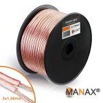 Manax Câble de haut-parleur Transparent 2 x 1,5mm² x 100m de la marque MANAX image 3 produit