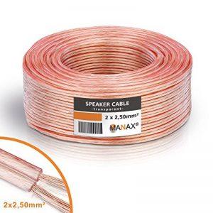 MANAX Câble de haut-parleur Transparent 2 x 2,5 mm Anneau de 50 m de la marque MANAX image 0 produit