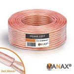MANAX Câble de haut-parleur Transparent 2 x 2,5 mm Anneau de 50 m de la marque MANAX image 3 produit