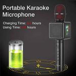 Mircophone Karaoké Sans Fil, Cocopa Bluetooth Micro Portable Haut Parleur Intégré Chanter Player Karaoké Compatible avec iPhone Android Smartphone pour KTV à la Maison/Soirée de la marque Cocopa image 2 produit