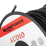 MutecPower 30m Cable Haut-Parleur 2 x 2.5mm (14 AWG) - UTILISABLE A L'Exterieur - pour ENFOUISSEMENT Direct - avec Protection Contre Les UV - Resistant A L'Eau – 30 mètres avec 50 Attaches câbles de la marque MutecPower image 4 produit