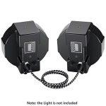 Neewer 4 Packs XLR DMX Câbles avec 3 Broches Mâle à Femelle 100 centimètres pour LED Lumières de Scène, Mélangeurs, Préamplificateurs, Microphones et Système de Haut-Parleurs (Noir et Blanc) de la marque Neewer image 2 produit