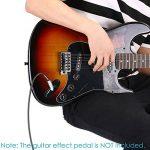 Neewer 6,5ft/2m Guitare Cble Durable avec Standard 1/4, Blindage en Caoutchouc Extra Flexible et Connecteurs Métalliques Solides pour une Transmission Excellente du Son (Noir) de la marque Neewer image 3 produit