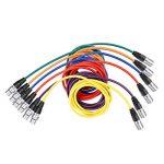 Neewer 6 Pièces 6,5 pieds/2m Câble pour Microphone XLR Male à XLR Femelle de Peau en Caoutchouc Cordon de Serpent Equilibré de 6 Couleurs(Vert Bleu Violet Rouge Jaune et Orange) de la marque Neewer image 4 produit