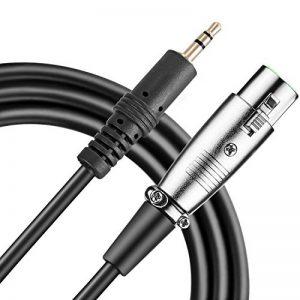 Neewer® Câble professionnel pour microphone 2,5 m x 3,5 mm, XLR femelle et jack mâle Momo de la marque Neewer image 0 produit