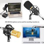 Neewer NW-800 Kit de Microphone à Condensateur - Micro Doré, 48V Alimentation Fantôme Noir, NW-35 Boom Support de Bras à Ciseaux avec Montage Choc et Filtre Pop, XLR Câble Mâle à Femelle de la marque Neewer image 3 produit
