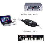 Neoteck Adaptateur USB Midi 6m 2m Câble USB vers MIDI Interface adaptateur convertisseur USB vers MIDI In-Out Musique Clavier Piano à votre PC/ordinateur portable pour Windows 2000/XP/Vista/Win 7 de la marque Neoteck image 1 produit