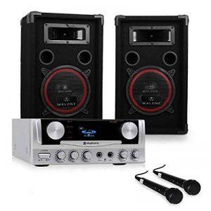 Pack DJ PA ampli karaoke set sono enceinte 500W sub kit de la marque Electronic-Star image 0 produit